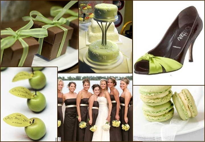 Apple Green and Chocolate Brown Colour Combo – Jamaica Weddings Blog