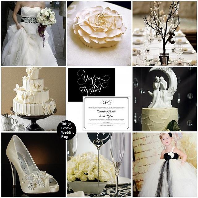 Ivory & Black Wedding Theme