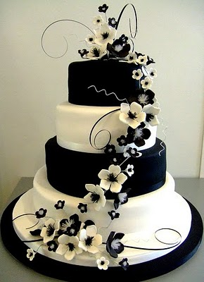 Black and White Wedding Cakes That Make Your Mouth Water Jamaica