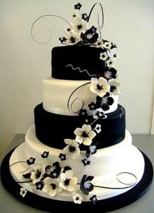 Black-White-Wedding-Cake
